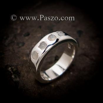 แหวนมูนสโตน แหวนเกลี้ยง  #2