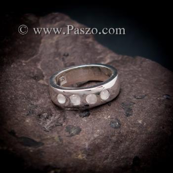 แหวนมูนสโตน แหวนเกลี้ยง  #3