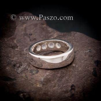 แหวนมูนสโตน แหวนเกลี้ยง  #4