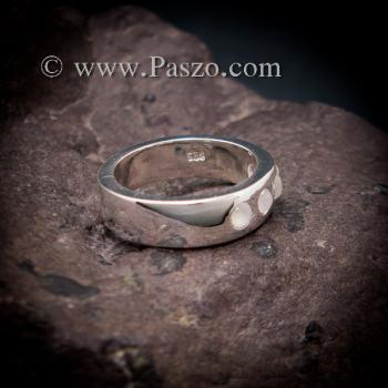 แหวนมูนสโตน แหวนเกลี้ยง  #5