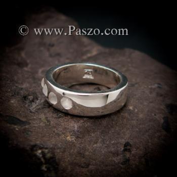 แหวนมูนสโตน แหวนเกลี้ยง  #6