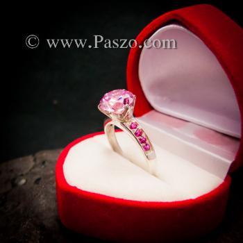 แหวนพลอยสีชมพู แหวนชูพลอย พิงค์โทพาซ #4