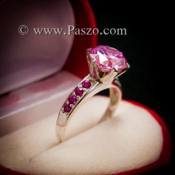 แหวนพลอยสีชมพู แหวนชูพลอย พิงค์โทพาซ #5