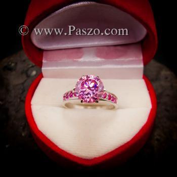 แหวนพลอยสีชมพู แหวนชูพลอย พิงค์โทพาซ #6