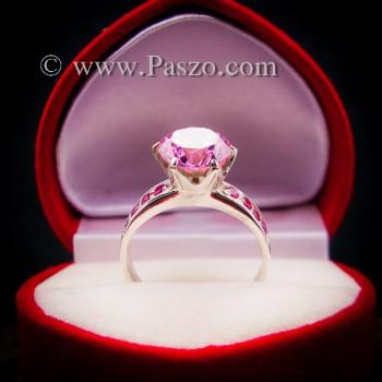 แหวนพลอยสีชมพู แหวนชูพลอย พิงค์โทพาซ #7