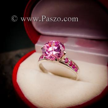 แหวนพลอยสีชมพู แหวนชูพลอย พิงค์โทพาซ #8