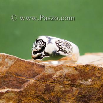 แหวนมังกร แหวนเงินแกะสลักมังกรพันนิ้ว แหวนทรงแหวนเกลี้ยง #3