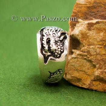 แหวนมังกร แหวนเงินแกะสลักมังกรพันนิ้ว แหวนทรงแหวนเกลี้ยง #5