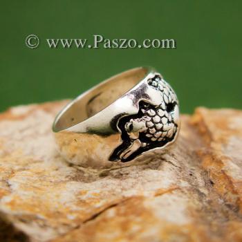 แหวนมังกร แหวนเงินแกะสลักมังกรพันนิ้ว แหวนทรงแหวนเกลี้ยง #6