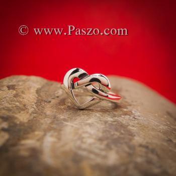แหวนรูปหัวใจ แหวนเงิน แหวนแห่งความผูกพัน #6