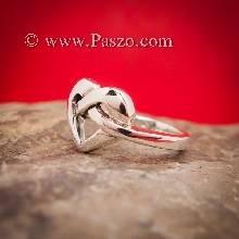แหวนรูปหัวใจ แหวนเงิน แหวนแห่งความผูกพัน