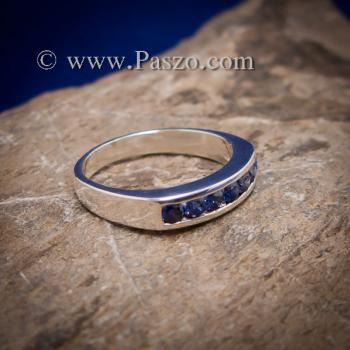 แหวนไพลิน แหวนแถว พลอยไพลิน #2