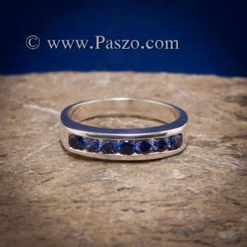 แหวนไพลิน แหวนแถว พลอยไพลิน #3