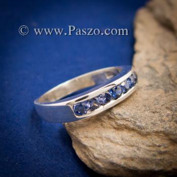 แหวนไพลิน แหวนแถว พลอยไพลิน #4