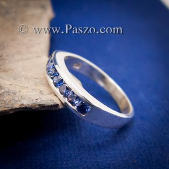 แหวนไพลิน แหวนแถว พลอยไพลิน #5