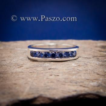 แหวนไพลิน แหวนแถว พลอยไพลิน #6