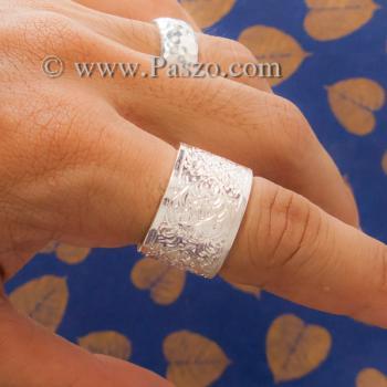 แหวนแกะลายรอบวง หน้ากว้าง15มิล แหวนเกลี้ยงหน้าเรียบ #3
