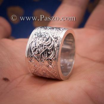 แหวนแกะลายรอบวง หน้ากว้าง15มิล แหวนเกลี้ยงหน้าเรียบ #4