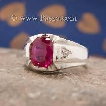 แหวนแห่งแสง แหวนทับทิม แหวนผู้ชายเงินแท้ บ่าฝังเพชร แหวนทับทิมผู้ชาย แหวนผู้ชาย