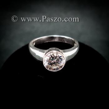 แหวนเพชร แหวนเงินแท้ แหวนเพชรเม็ดเดี่ยว #5