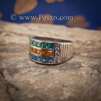 แหวนสามสี แหวนพลอยสามสี บ่าเพชรสวิส #2