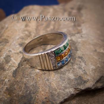แหวนสามสี แหวนพลอยสามสี บ่าเพชรสวิส #3
