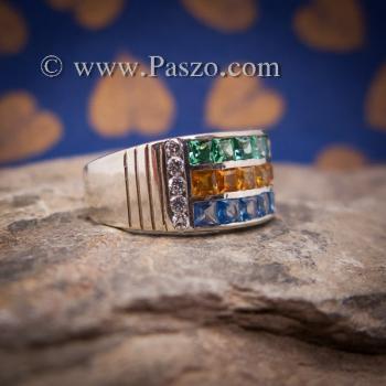 แหวนสามสี แหวนพลอยสามสี บ่าเพชรสวิส #4
