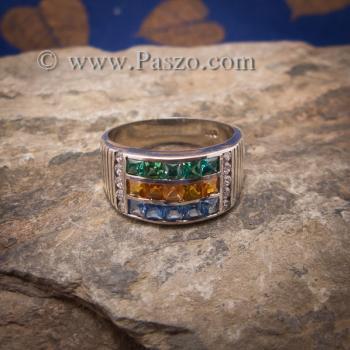 แหวนสามสี แหวนพลอยสามสี บ่าเพชรสวิส #5