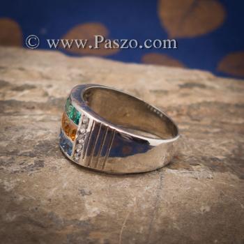 แหวนสามสี แหวนพลอยสามสี บ่าเพชรสวิส #7