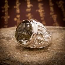 แหวนแก้วขนเหล็ก แหวนผู้ชายเงินแท้ แหวนพญาครุฑ แหวนโป่งข่าม แก้วขนเหล็ก แหวนผู้ชาย
