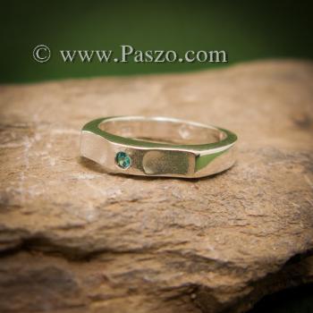แหวนพลอยสีฟ้า แหวนเงิน พลอยสีฟ้า #3