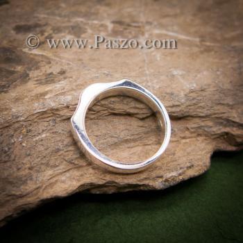 แหวนพลอยสีฟ้า แหวนเงิน พลอยสีฟ้า #4