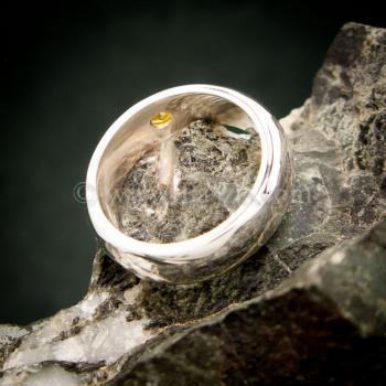 แหวนสีเหลือง แหวนเงินแท้ แหวนเกลี้ยงฝังพลอย #5