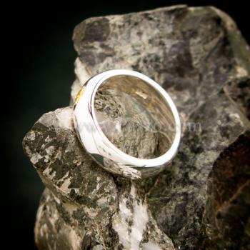 แหวนสีเหลือง แหวนเงินแท้ แหวนเกลี้ยงฝังพลอย #6