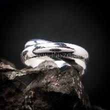 แหวนโชคดี แหวนหน้าโค้ง แหวนสัญลักษณ์ Fingers crossed ring สำหรับผู้ชาย