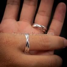แหวนโชคดี แหวนคู่ แหวนเงินแท้ แหวนสัญลักษณ์โชคดี