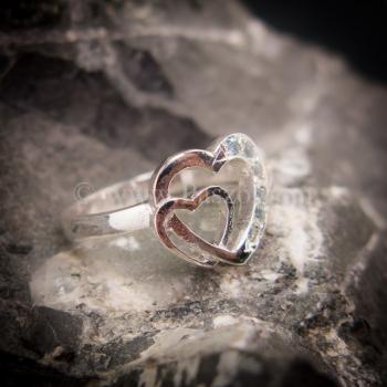 แหวนอความารีน แหวนเงิน แหวนหัวใจคู่ #3