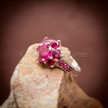 แหวนทับทิม แหวนเงินแท้ พลอยสีแดง #3