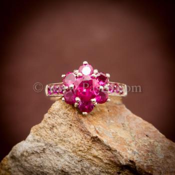 แหวนทับทิม แหวนเงินแท้ พลอยสีแดง #4