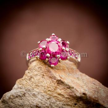 แหวนทับทิม แหวนเงินแท้ พลอยสีแดง #5