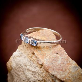 แหวนพลอยสีน้ำทะเล อความารีน แหวนเงินแท้ #3