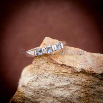 แหวนพลอยสีน้ำทะเล อความารีน แหวนเงินแท้ #4