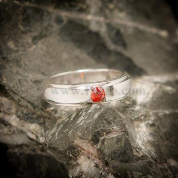แหวนโกเมน แหวนเงินแท้ พลอยโกเมนสีส้ม #2