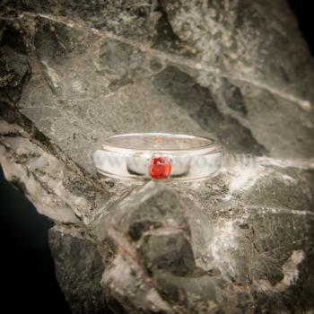 แหวนโกเมน แหวนเงินแท้ พลอยโกเมนสีส้ม #3