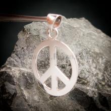 จี้สันติภาพ จี้เงินแท้ เครื่องหมายสันติภาพ