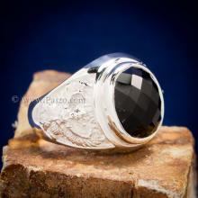 แหวนพญาครุฑ แหวนนิลแท้ แหวนผู้ชาย แหวนเงินแท้