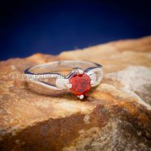 แหวนพลอยสีส้ม แหวนโกเมน แหวนเงินแท้ แหวนพลอยเม็ดเล็ก แหวนพลอยเม็ดเดี่ยว