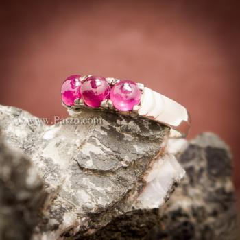 แหวนทับทิม แหวนเงินแท้ พลอยสีแดง #6