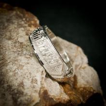 แหวนนามสกุล ไม่ลงยา แหวนชื่อ แหวนนามสกุลเงินแท้ แกะสลักลายไทย