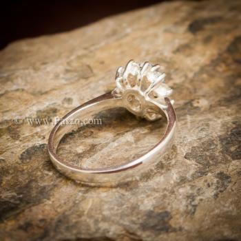 แหวนอความารีน แหวนพลอยสีน้ำทะเล แหวนเงินแท้ #2